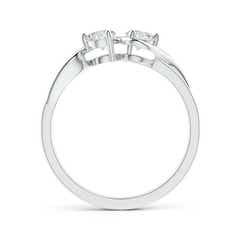 Toggle Two Stone Twist Diamond Ring with Prong-Set