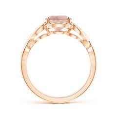 Toggle Vintage Inspired Oval Morganite Ring with Diamond Accents