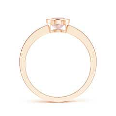 Toggle Bezel-Set Oval Morganite Solitaire Ring with Channel-Set Diamond