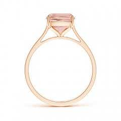Toggle Prong-Set Cushion Morganite Solitaire Ring