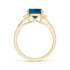 Toggle Split Shank Cushion London Blue Topaz Solitaire Ring