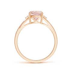 Toggle Split Shank Cushion Morganite Solitaire Ring