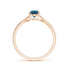 Toggle Prong Set Oval London Blue Topaz Solitaire Bypass Ring