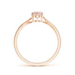 Toggle Prong-Set Oval Morganite Solitaire Bypass Ring