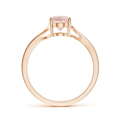 Four Prong-Set Solitaire Oval Morganite Bypass Ring