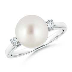 South Sea Cultured Pearl Ring with Diamond Accents