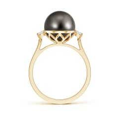 Toggle Tahitian Cultured Pearl Ring with Diamond Accents