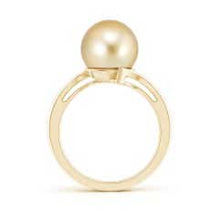 Toggle Solitaire Golden South Sea Cultured Pearl Bypass Ring