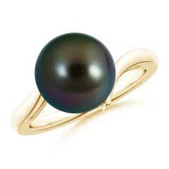 Solitaire Tahitian Cultured Pearl Bypass Ring
