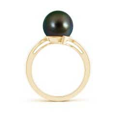 Toggle Solitaire Tahitian Cultured Pearl Bypass Ring