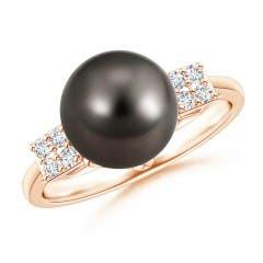 Art Deco-Inspired Tahitian Cultured Pearl Ring