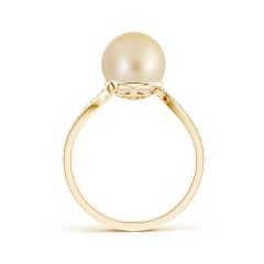 Toggle Golden South Sea Cultured Pearl Bypass Ring