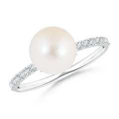 Classic Freshwater Cultured Pearl Solitaire Ring