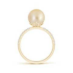 Toggle Classic Golden South Sea Cultured Pearl Solitaire Ring