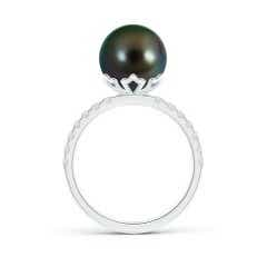 Toggle Classic Tahitian Cultured Pearl Solitaire Ring
