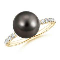 Classic Tahitian Cultured Pearl Solitaire Ring