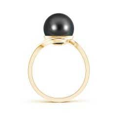 Toggle Tahitian Cultured Pearl Solitaire Bypass Ring
