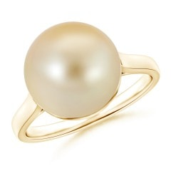Classic Golden South Sea Cultured Pearl Ring