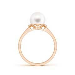 Toggle Freshwater Cultured Pearl and Diamond Collar Ring