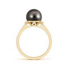 Tahitian Cultured Pearl and Diamond Collar Ring