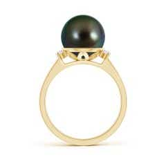 Toggle Tahitian Cultured Pearl and Diamond Collar Ring