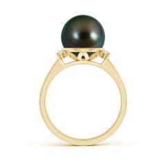 Toggle Tahitian Cultured Pearl and Diamond Collar Ring