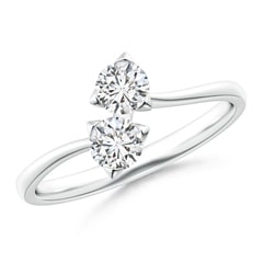 Twist 2 Stone Diamond Promise Ring