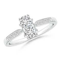 Two Stone Diamond Ring with Milgrain Detailing