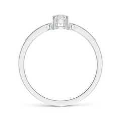 Toggle Two Stone Diamond Ring with Milgrain Detailing