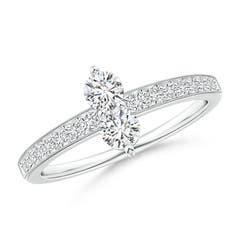 Angara Three Prong Set Two Stone Diamond Infinity Loop Ring Z5SwAuVgtA