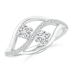 Angara Triple Row Dotted Diamond Orbit Ring gH79QVC