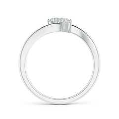 Toggle Prong-Set Two Stone Diamond Twist Ring