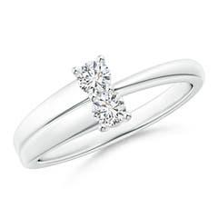 2-Stone Diamond Anniversary Ring in Prong Setting