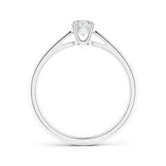 Toggle Knife-Edged Classic Round Diamond Solitaire Ring