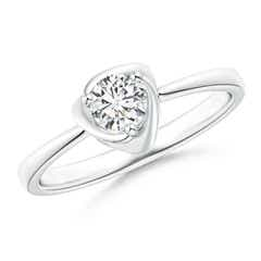 Solitaire Diamond Floral Ring