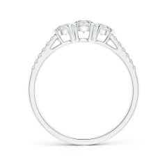 Toggle Unique Prong-Set Diamond Three Stone Engagement Ring