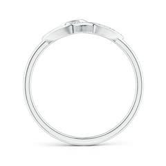 Toggle Diamond Interlocked Heart Ring in Pave Setting