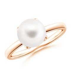 Classic Solitaire FreshWater Cultured Pearl Ring