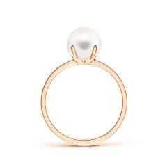Toggle Classic Solitaire FreshWater Cultured Pearl Ring