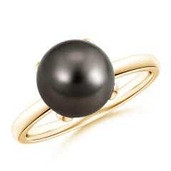 Classic Solitaire Tahitian Cultured Pearl Ring