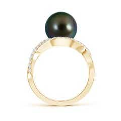 Toggle Tahitian Cultured Pearl Infinity Ring with Diamonds