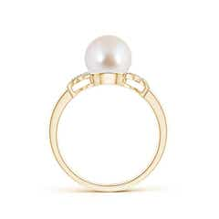 Toggle Akoya Cultured Pearl XO Ring with Diamonds