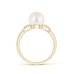 Toggle Freshwater Cultured Pearl XO Ring with Diamonds