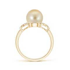 Toggle Golden South Sea Cultured Pearl XO Ring