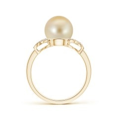 Angara Golden South Sea Cultured Pearl XO Ring v65iq4z