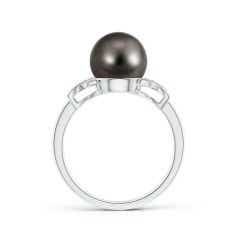 Toggle Tahitian Cultured Pearl XO Ring with Diamonds