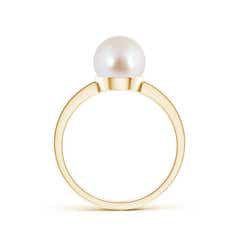 Toggle Classic Akoya Cultured Pearl Solitaire Ring
