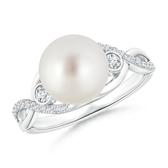 South Sea Cultured Pearl and Diamond Infinity Ring