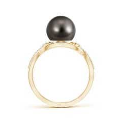 Toggle Tahitian Cultured Pearl and Diamond Infinity Ring