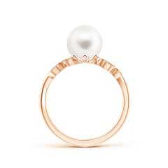 Toggle Vintage Style Freshwater Cultured Pearl Ring with Leaf Motifs